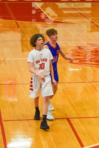 Freshman Landon Bryan watches an inbound pass at a 9th grade home basketball game versus Wheeling Park.