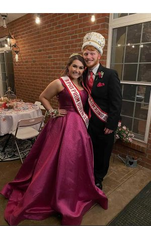 Seniors Parker Schartiger and Ellie Yeater named prom king and queen on Saturday, May 1.